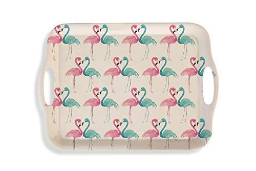 takestop® Bamboe dienblad Flamingo Flamingo 34 x 24 cm voedsel dienblad Zoete Opener Vlees Transport Party