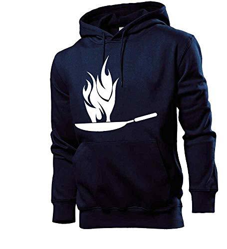 Generisch Hot Wok Männer Hoodie Sweatshirt Navy XXL - shirt84.de