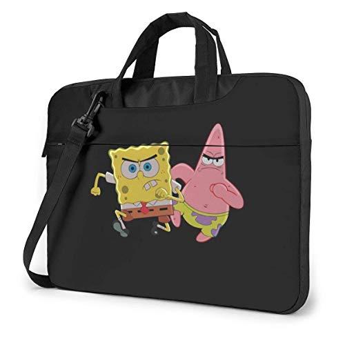 13 Inch Laptop Bag Patrick Star and Spongebob Laptop Briefcase Shoulder Messenger Bag Case Sleeve