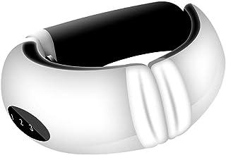 MIJIN Masajeador de Cuello, masajeador Cervical Masajeador de Cuello Inteligente inalámbrico Vibración de Pulso Amasamiento Instrumento de Fisioterapia Masajeador eléctrico de Espalda (Blanco)