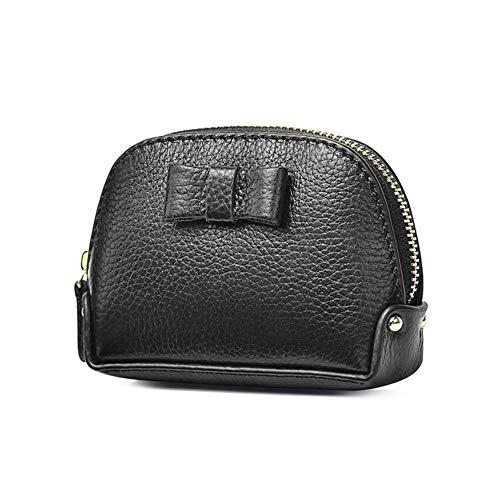 NOLOGO Mappengeldbeutel Damen kleine Taschen Coin Pocket (Color : Black)