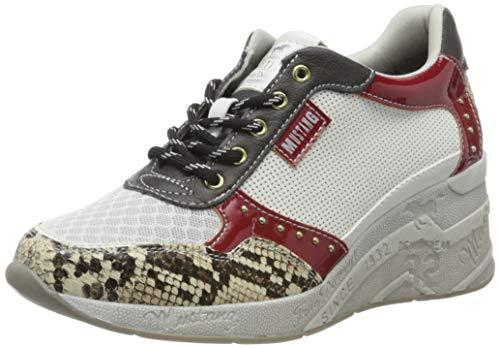 MUSTANG Damen 1319-306-119 Sneaker, Mehrfarbig (Weiß/Multi 119), 38 EU