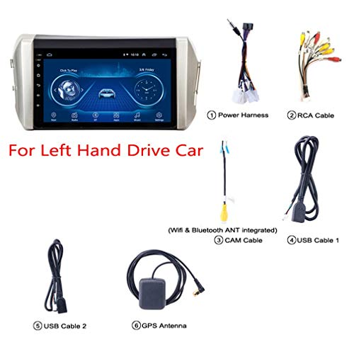 JIERTYU 9 Zoll Android 8.1 Auto DVD GPS Navigation Für Toyota Innova 2015-2018 Mit Bluetooth/TV/WiFi/USB/Radio/Video, Unterstützt Mehrere Audio-Format
