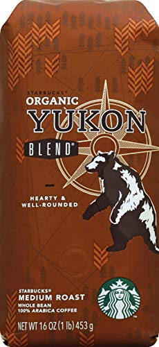 Starbucks Organic Yukon Blend 1 Pound Bag of Medium Roast Whole Bean Coffee