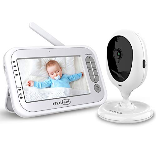 JSLBtech Video Baby Monitor and 4.3' LCD Screen, Auto Night Vision, Two-Way Talkback, Temperature Detection, Power Saving/Vox, Zoom in, Support Multi Camera …