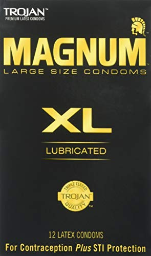 Trojan Magnum XL Size Lubricated Latex Condoms - 12 ct, Pack of 3