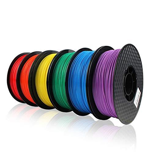 QINGRUI Materiales de Impresora 5pcs 1.75mm 1 kg/PC PLA Filamento de Impresora 3D para Pluma 3D Cinta de Goma Consumibles Material DIY Filamento Fácil de Dar Forma (Color : PLA Mixed 5 Colors)