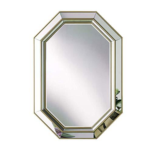 Household noodgevallen/opgehangen aan de muur, met spiegel, goudkleurig