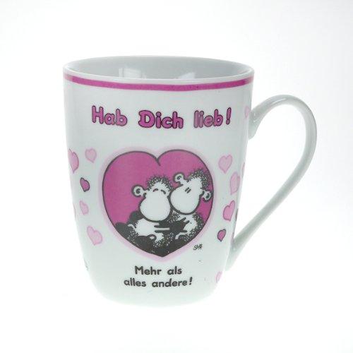 "Sheepworld 59205 Lieblingstasse ""Hab Dich lieb!"", Porzellan"