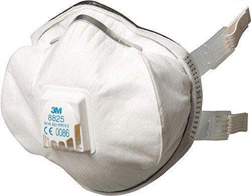 Protezione appannamento maschera 8825 FFP2RD m, valvola B, 10 x AGW-valore 3 m EN149:2001 + A1: 2009, 5 pcs