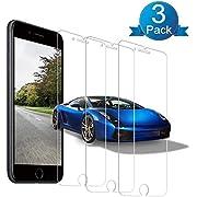 Panzerglas Displayschutzfolie für iPhone 6/iPhone 7/iPhone8[3 Stück] ,9H Härte Displayschutzfolie,3D Touch Kompatibel,Anti-Bläschen,Anti-Kratzen,Anti Öl ,HD Ultra-klar,Tempered Glass Kompatibel mit iPhone 6/7/8(4,7 Zoll).