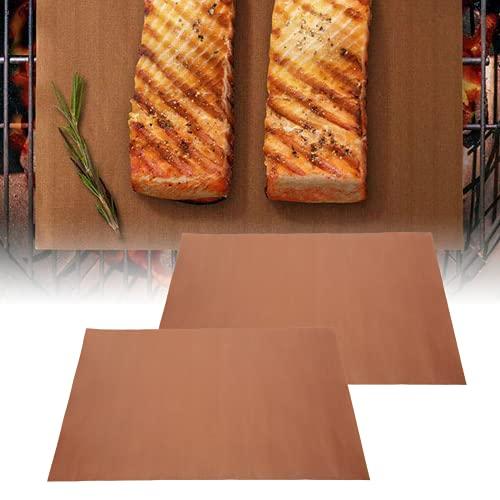 Alfombrilla para Barbacoa, Alfombrilla para Barbacoa Resistente Al Calor 40x33cm para Cocina Camping Al Aire Libre