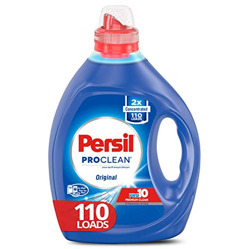 Persil Liquid Laundry Detergent, ProClean Scent, 2X Concentrated, 110 Loads, Blue, 82.5 Fl Oz, Original