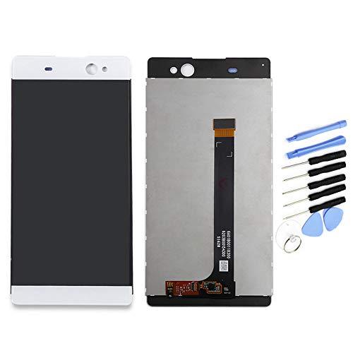 YQZ Sony Xperia XA Ultra C6 F3211 F3212 F3215 F3216 F3213 修理交換用フロントパネル LCD タッチパネル 液晶パネル(フロントガラスデジタイザ)修理工具セット付き (ホワイト )