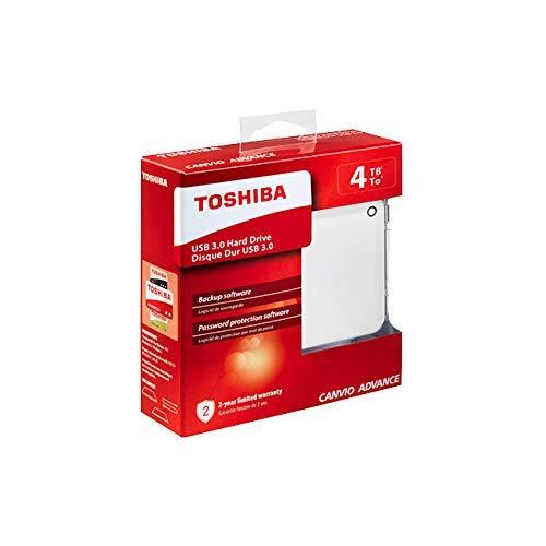 Toshiba Canvio Advance disco rigido esterno 4000 GB Bianco