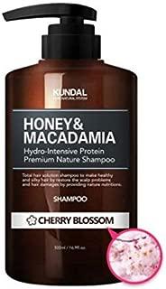 KUNDAL Honey&Macadamia Hydro-Intensive Protein Premium Nature Shampoo (CHERRY BLOSSOM) 500ml