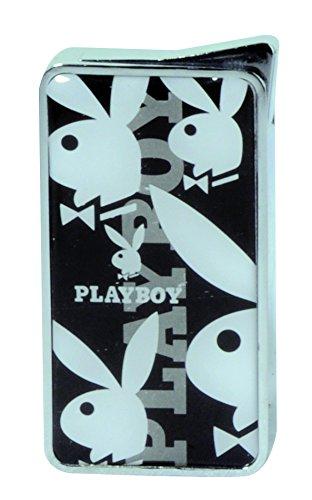 Champ Playboy Aansteker, gloeipunt, spiegel, 5 bunnys, navulbaar, vlam regelbaar, zwart