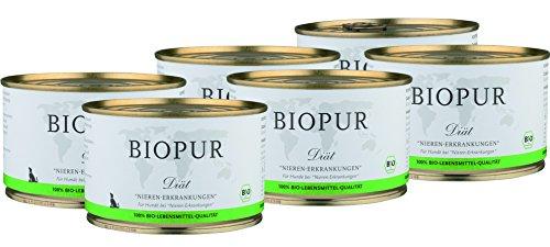 BIOPUR Bio Diät-Hundefutter bei Nieren-Erkrankungen 6x400g