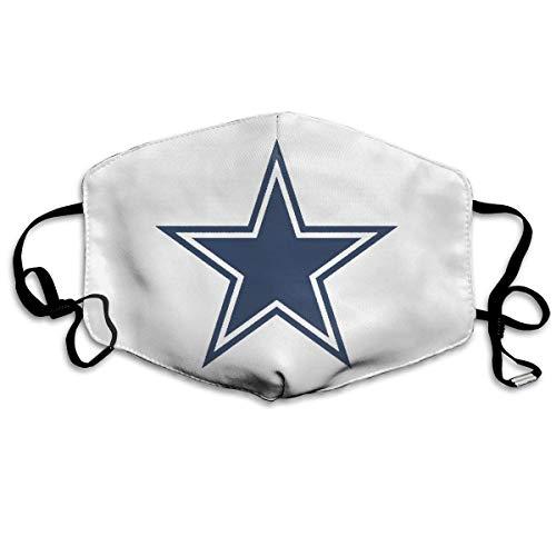 Unisex Nase Mund Staubschutz Fußball Dallas-Cowboys-Logo Einstellbare Mundschutz