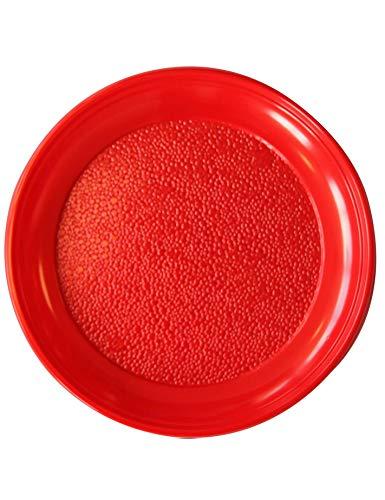 Générique 20 Assiettes Plates Plastiques RÉUTILISABLES 22CM Rouge