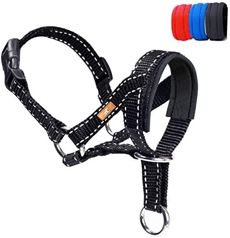 wintchuk Dog Head Collar Head Collar with Reflective Strap to Stop Pulling for Small Medium product image