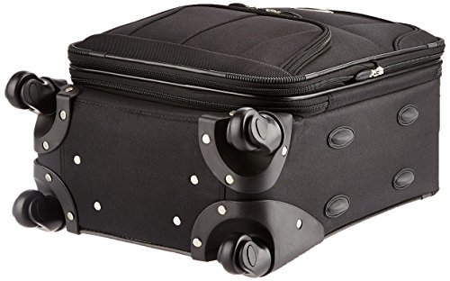 Rockland Pasadena Softside Spinner Wheel Luggage, Black, Carry-On 20-Inch