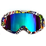HONCENMAX Motocicleta Gafas de Protección con Máscara Facial Desmontable Estilo Harley Casco Equitación Gafas de Sol Regalo