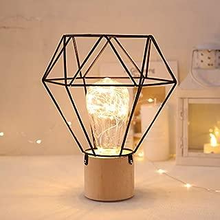 Estilo retro nórdico 1.5 M USB Metal Hierro Arte Decorativo Luz de noche cálida Mesita de noche Lámpara de escritorio con alambre de cobre Luces LED para dormitorio Sala de estar 1