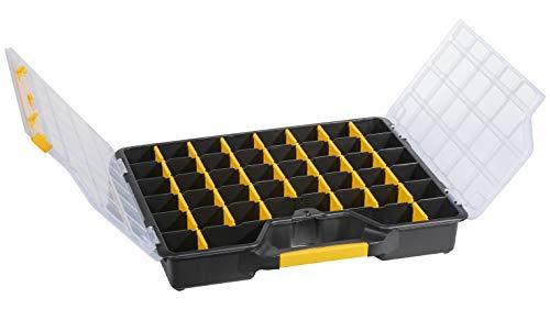 Allit 457430 EuroPlus Basic >S<47/7-36,schw Sortimentskasten, Sortierkasten, Schwarz, Gelb, transparent, 1 Stück