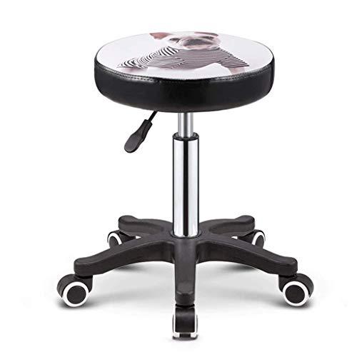 Chair Tabouret de beauté Chaise de coiffeur Rotation Levage Tabouret rond Salon de manucure Tabouret Poulie Coiffure A+ (Couleur : 3)
