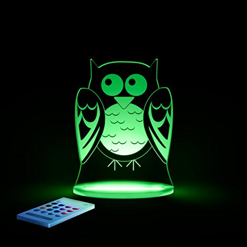Aloka–Lámpara nocturna con LED multicolor para niño búho