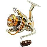 MINORIN スピニングリール 4000番 淡水釣り海釣り 金属製 軽量釣りリール 最大ドラグ力7Kg (左右交換ハンドル)リール ラインストッパー搭載 5+1BB 逆テーパースプール 初心者推薦