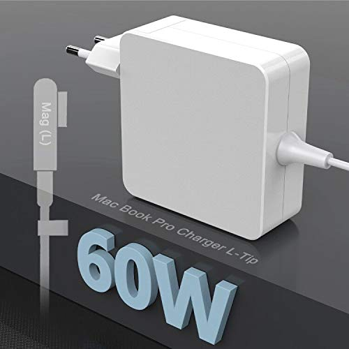 Eletrand Cargador Mac Book Pro 60W Adaptador Corriente con Punta en L de para Mac Book Pro/Air Charge Compatible con Mac Book Pro de 11'y 13' Pulgadas Antes de 2012 Mid, Funciona con 45 W / 60 W