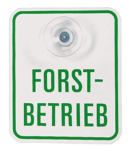 Autoschild Forstbetrieb 78-655 Sauger an Frontscheibe f. Forstbetriebsangehörige