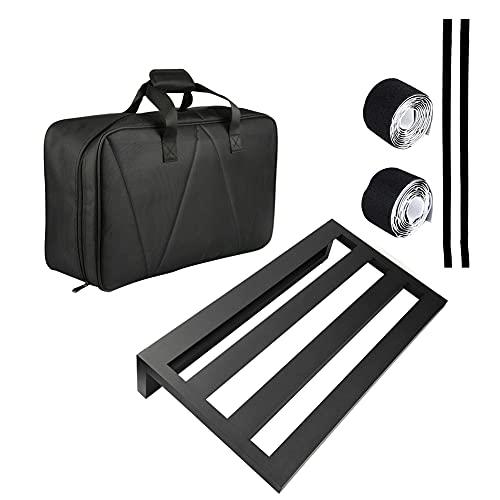 Pedalboard de guitarra gran efecto pedal conjunto impermeable mochila fuente de alimentación montaje cinta adhesiva negro