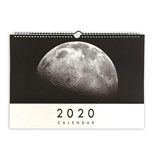 WXGY Calendario de pared 2020 mensual grande calendario académico colgante 19 meses...
