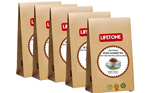 lifetone the tea for better life, Chanca Piedra - Phyllanthus niruri Tee | 100 Teebeutel | Kräuterreinigung Detox | Steinbrecher