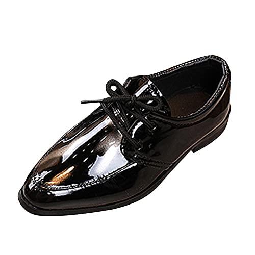 Festliche Kinderschuhe Schnürhalbschuhe Jungen Lederschuhe Britischen Stil Anzug Schuhe Lackschuhe Performance Student Businessschuh Hochzeit Freizeitschuhe