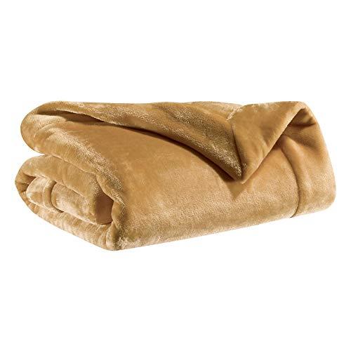 Vivaraise - Plaid Tender – 150x200 cm – Couverture d'appoint Chaude, jeté de canapé Doux – Microfibre Douce – Toucher Velours – Couvre-lit cocooning