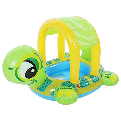 Baby Schwimmen Hin und Herbewegung mit justierbarem Sonnenschutz Karikatur Tier sicheres Spielwaren Zusatz aufblasbares Sitz Boot scherzt Sommer Spaß im Freienpool Spielwaren Geschenke für Kinder