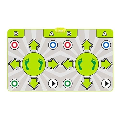 Bonne Isolation Acoustique Tapis de Danse Double Fitness Yoga en Cours 64 HD 4K sans Fil somesthésiques Jeux de Sports Équipement de Remise en Forme Doux (Color : Green)