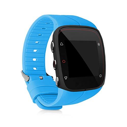 kwmobile Brazalete Compatible con Polar M400 / M430 - Pulsera de Silicona en Azul Claro sin Fitness Tracker