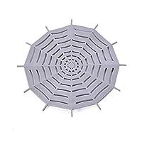 フロアドレンストレーナー カバー下水道防止フィルターキッチン排水排水バスルームアンチブロッキングフロア排水路カバーサクション型排水ヘアフィルター 現代の排水ストレーナー (Color : A)