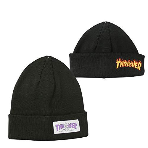【公式】 スラッシャー ビーニー ニット帽 THRASHER GONZ HOMETOWN 2WAY KNIT BEANIE CAP ニットキャップ ...
