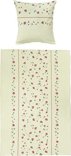 Dyckhoff 3054670300 Melina Weichfrottierbettwäsche, RV Garnitur 135 x 200 cm und 80 x 80 cm Kissen, 300, grün
