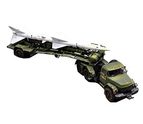 1yess Militares de plástico Juegos de construcción, 1/35 Rusa Zil-131V Tractor/Sam-2 Modelo Transporter, Juguetes Adultos (2 Piezas)