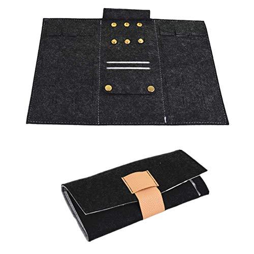 hanbby Cajas para Joyas joyeros Mujer Organizador Creativo Almacenamiento de joyería y bisutería Joyería de Encanto de Caja Pequeña Caja de joyería Black