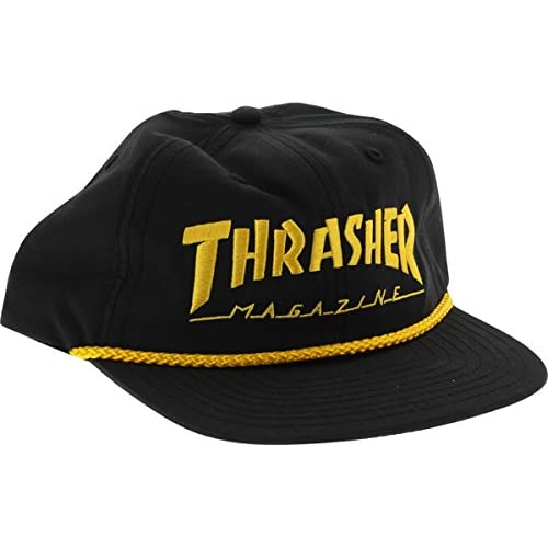 Thrasher Magazine Rope Black   Gold Snapback Hat - Adjustable a0976f488c9