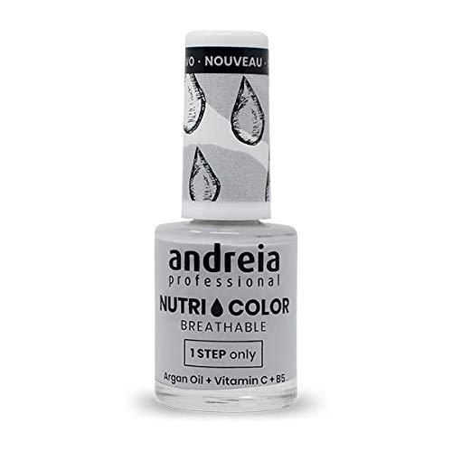 Andreia Professional NutriColor - ademende veganistische nagellak - NC3 grijs 10,5 ml