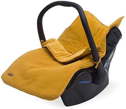 Jollein 025-811-65291 Fußsack für Babyschale Brick Velvet mustard